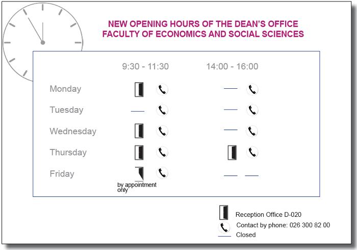Neue Öffnungszeiten gültig ab dem 18. August
