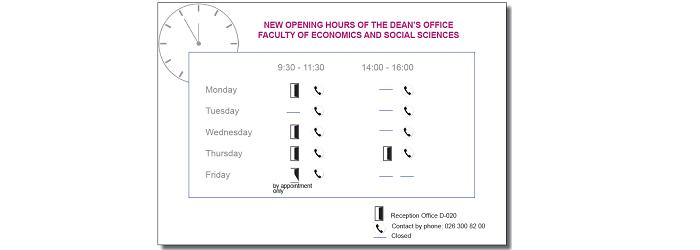 Neue Öffnungszeiten gültig ab dem 17. August