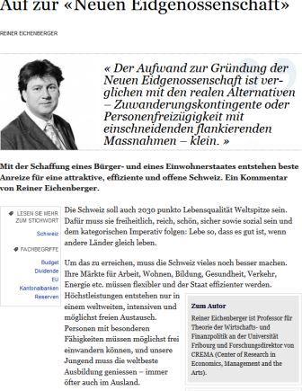 Artikel Prof. Eichenberger