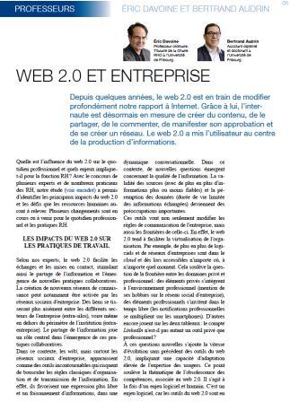 Web 2.0 et entreprise