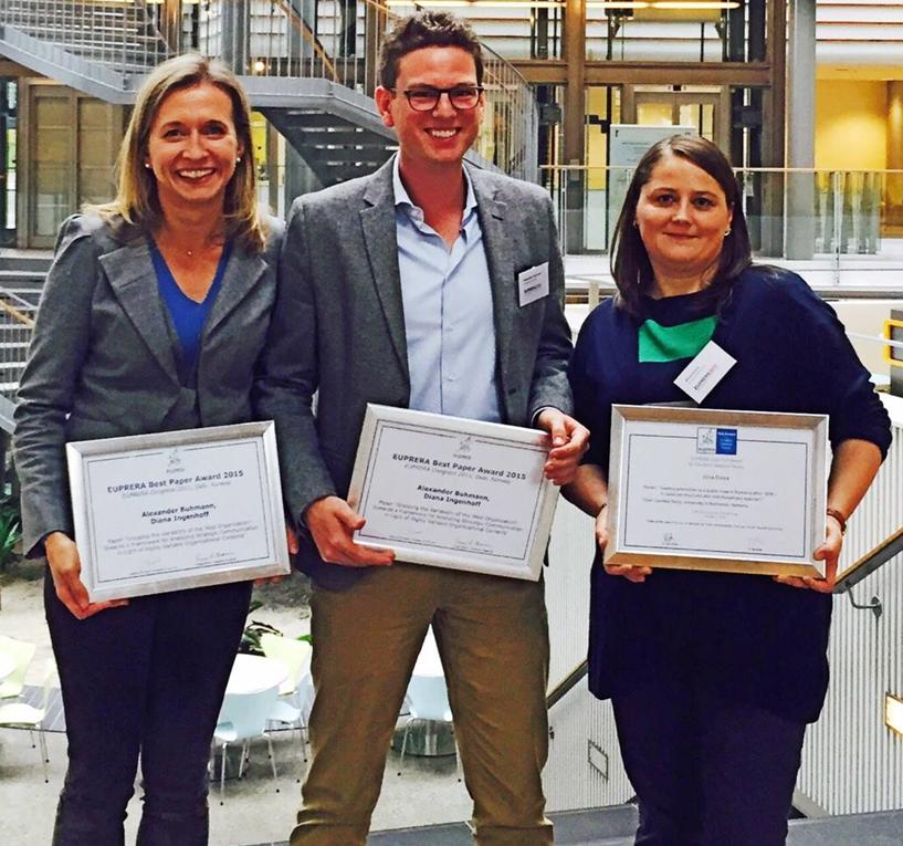 Best paper awards und EUPRERA PhD Award